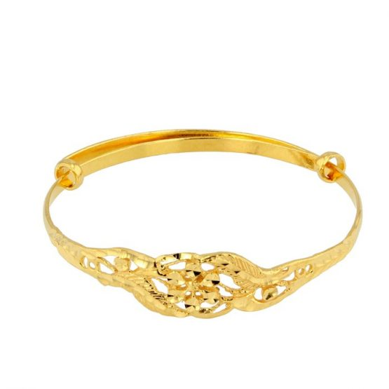 22ct Yellow Gold Baby Bangle (Adjustable) 05