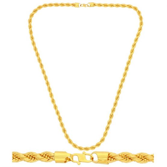 22ct Yellow Gold Chain - Laser Rope Style 01