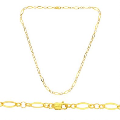 22ct Yellow Gold Chain - LV Style 02