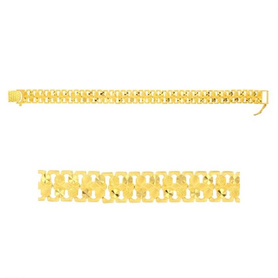 Men's Bracelet – Heavy 22ct Yellow Gold 01