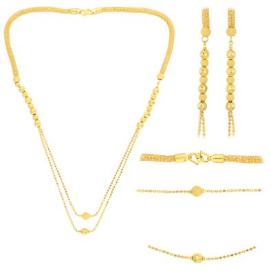 22ct Yellow Gold Necklace & Earring Set 01
