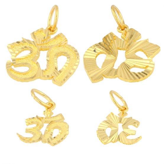 22ct Yellow Gold Pendant – Hindi OM Design Bundle 01