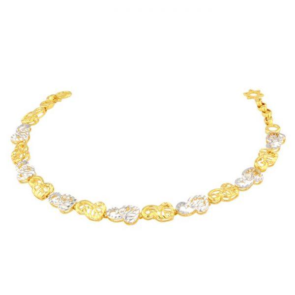 Ladies Bracelet 22ct Yellow Gold & Rhodium 08