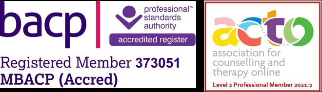 BACP and ACTO membership logos