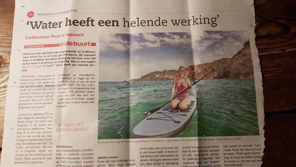 Artikel Indebuurt en krant Groot Eindhoven over Supcoach