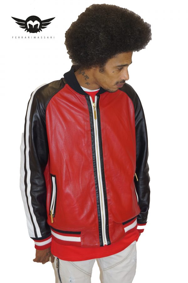 THE REVERISABLE BOSS LEATHER RED