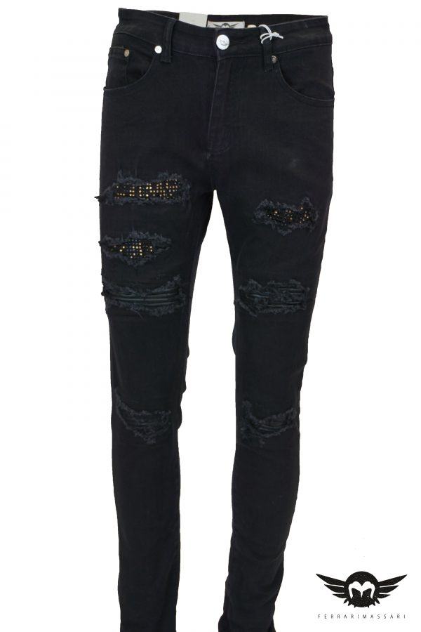 THE DIAMOND DRIP DENIM GOLD