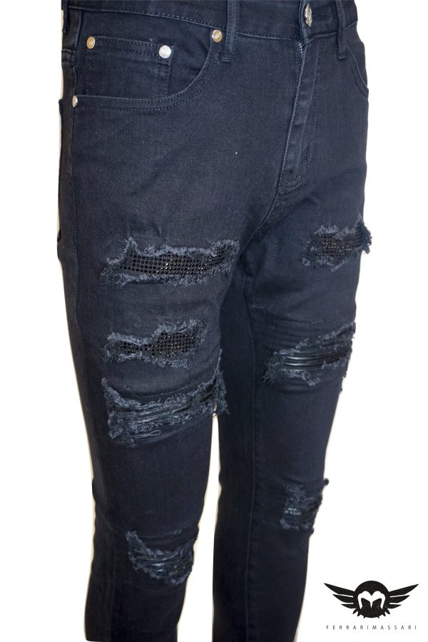 THE DIAMOND DRIP DENIM BLACK