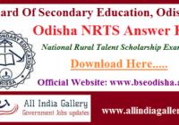 Odisha NRTS Answer Key