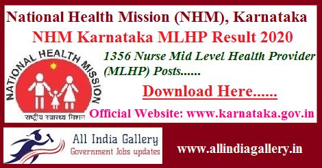 NHM Karnataka MLHP Result 2020