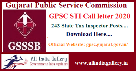 Ojas GPSC STI Call letter 2020
