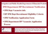 IPH Department HP Recruitment Notification