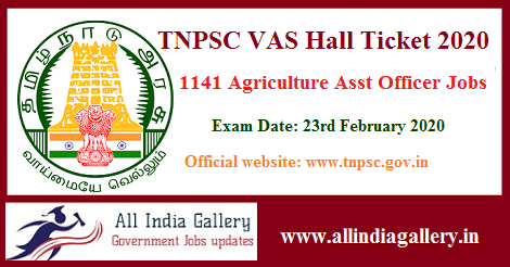 TNPSC VAS Hall Ticket