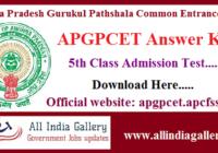 APGPCET Answer Key