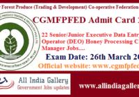 CGMFPFED Admit Card 2020
