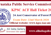 KPSC Assistant Conservator of Forest Hall Ticket 2020