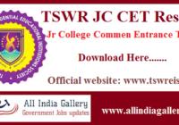 TSWR JC CET Result