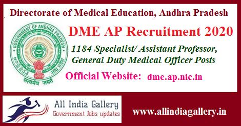 DME Andhra Pradesh Recruitment 2020