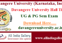 Davangere University Hall Ticket