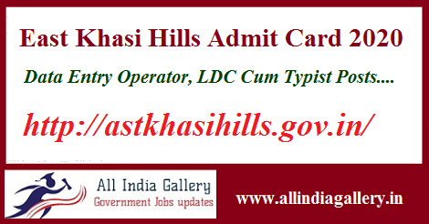 East Khasi Hills Admit Card 2020