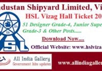 HSL Vizag Hall Ticket 2020