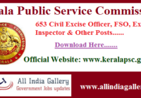 Kerala PSC Civil Excise Officer Hall Ticket 2020