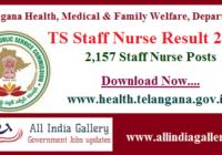 TS Staff Nurse Result 2020