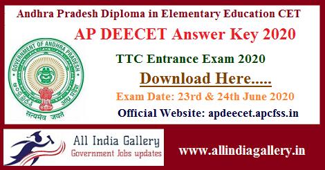 AP DEECET Answer Key 2020
