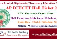 AP DEECET Hall Ticket 2020