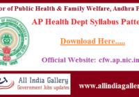 AP Health Dept Syllabus Pattern