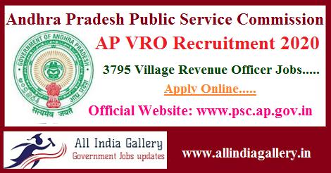 AP VRO Recruitment 2020