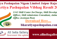 Bhartiya Pashupalan Vibhag Result 2020