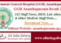 GGH Ananthapuramu Result 2020