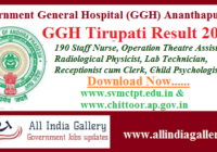GGH Tirupati Result 2020