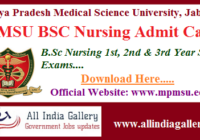 MPMSU BSC Nursing Admit Card
