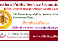 RPSC ACF Admit Card 2020