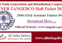 TNEB TANGEDCO Field Assistant Hall Ticket 2020