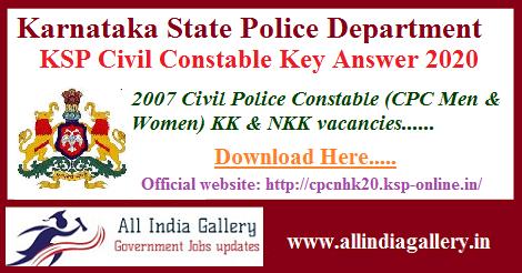 KSP CPC Key Answer 2020