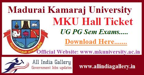 Madurai Kamaraj University Hall Ticket