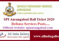 SPI Aurangabad Hall Ticket 2020