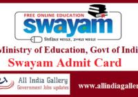 Swayam Admit Card