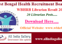 WBHRB Librarian Result 2020