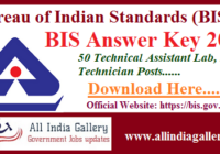 BIS Technical Assistant Lab Answer Key 2020