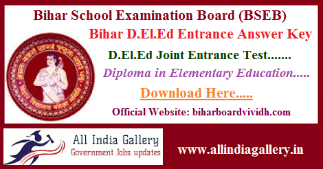 Bihar DELED Entrance Answer Key