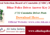 Bihar Police Driver Answer Key 2020