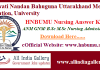 HNBUMU Nursing Answer Key
