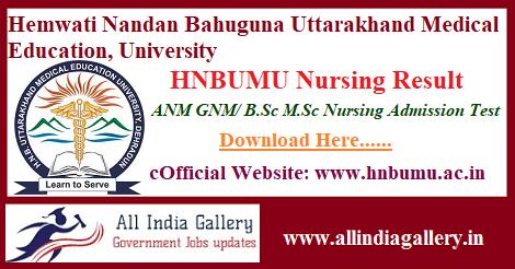 HNBUMU Nursing Result