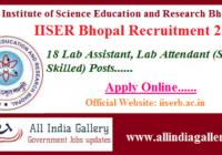 IISER Bhopal Lab Assistant Recruitment 2020