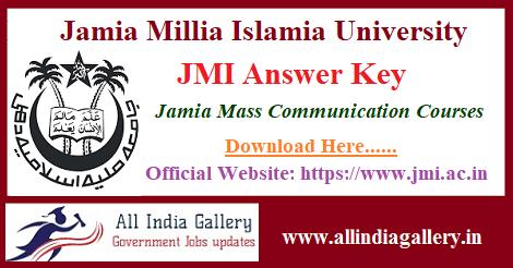 JMI Entrance Answer Key