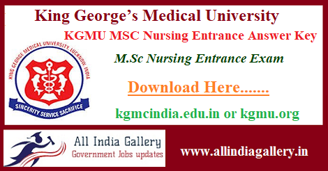 KGMU MSC Nursing Entrance Answer Key